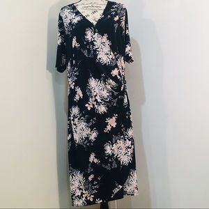 Glamour Floral Dress   Plus Size